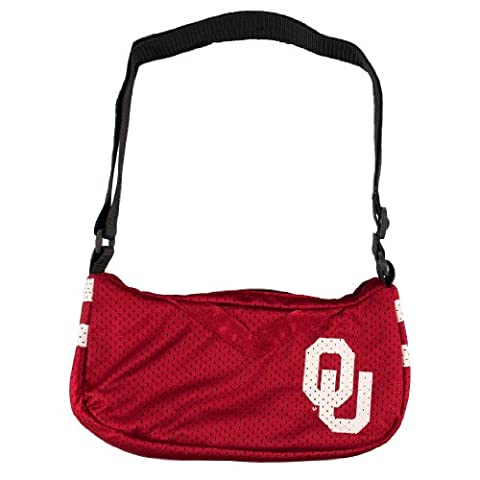 NCAA Oklahoma Sooners Jersey Team Purse, 12 x 3 x 7-Inch, Red