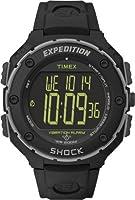 Timex T49950SU - Reloj digital de cuarzo para hombre con correa de resina, color negro de TIMEX