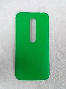 Plus Replacement Battery Door Panel Housing Back Cover Case Shell for Motorola Moto G (3rd Gen) - Green