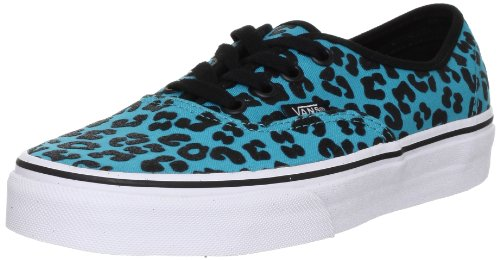 Vans U Authentic, Baskets mode mixte adulte Noir - Schwarz ((Glitter Cheetah) peacock/black)