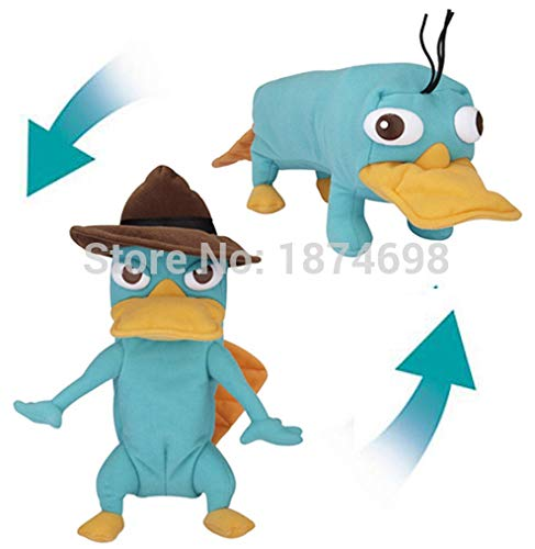 25 CM Platypus To Perry Transforming From Phineas and Ferb Soft Toy