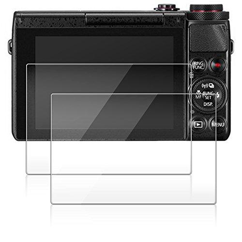 Films de Protection d'Ecran pour Canon G9X G7X X100T, AFUNTA Lot de 2 Pièces Waterproof Protecteur de G9 X G7 X en Verre Trempé Optique
