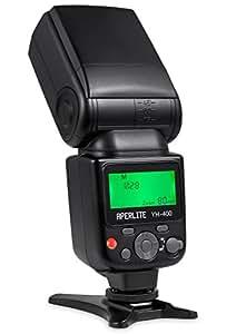 Aperlite Flash Speedlite Professionale Flashlight Lampeggiatore per Canon & Nikon DSLR Fotocamera Digitale Macchina Fotografica [Supporta Wireless S1 & S2 Modalità], YH-400