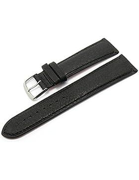 Meyhofer Uhrenarmband Alvesta 18mm schwarz abgenäht vegetabil MyHeklb27/18mm/schwarz/TiT