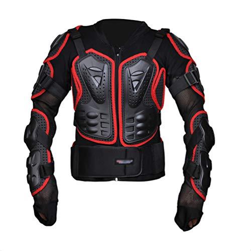 Dexinx Nero Armatura Giacca Traspirante Confortevole Protezione di Motocross Giacca Regolabile Armatura Indumenti di Protezione Rot XL