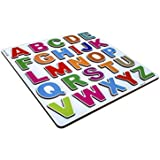 Cryo Craft Wooden Alphabet Puzzle Board (Raised Letters)