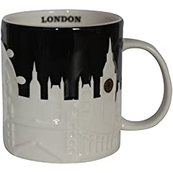 Starbucks cup-london ciudad taza, Relief Collector Series, negro