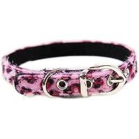 Wicemoon Wild Leopard Print Pet Halsband Glocken Pet Kette Seil Griff Traktion Seil Hund oder Katze Pet Sicherheit Leine für Training, Walking und Joggen, 1,5* 35cm