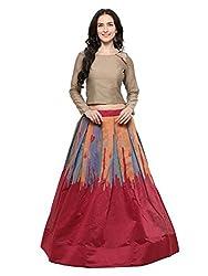Inddus Cotton Lehenga Choli (IND-IFW-129_Beige_Free Size )