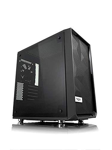 Fractal Design Meshify C Mini Blackout TG Dark Tint, PC Gehäuse (Micro-ATX Tower mit Seitenteil aus gehärtetem Glas) Case Modding für (High End) Gaming PC, schwarz