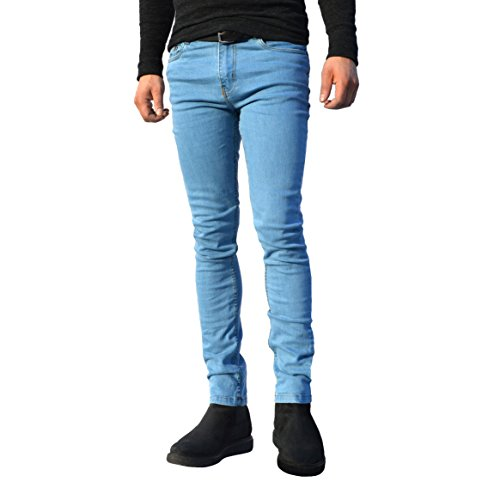 344ad1e4987 ClassyDude Mens Skinny Slim Fit Stretchable Jeans Classy Dude Denim Cotton  Straight Leg All Waist Sizes