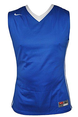 Nike Sleeveless Top M National Varsity Stock Jersey, Tm Royal/Tm White, M, 639394-494