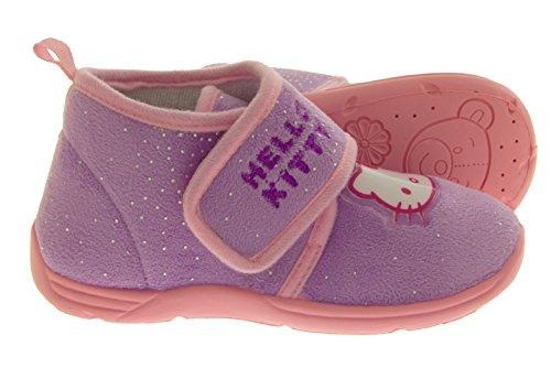Hello Kitty Bottes filles cheville Slipper Lilas
