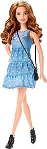 Barbie – CLN67 – Fashionistas – Robe Bleu Jean – Poupée Mannequin 29 cm