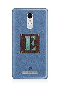 YuBingo Monogram with Beautifully Written Jeans and Macho Male Leather Finish letter E Designer Mobile Case Back Cover for Xiaomi Redmi Note 3