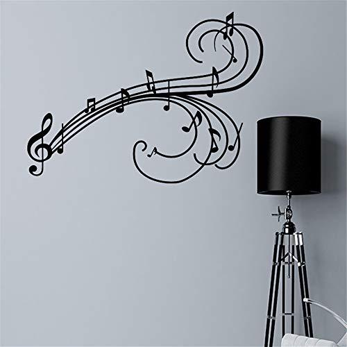Adesivo murale wall stickers frase citazione adesivi murali decorazione note musicali in chiave di violino per soggiorno camera da letto musica