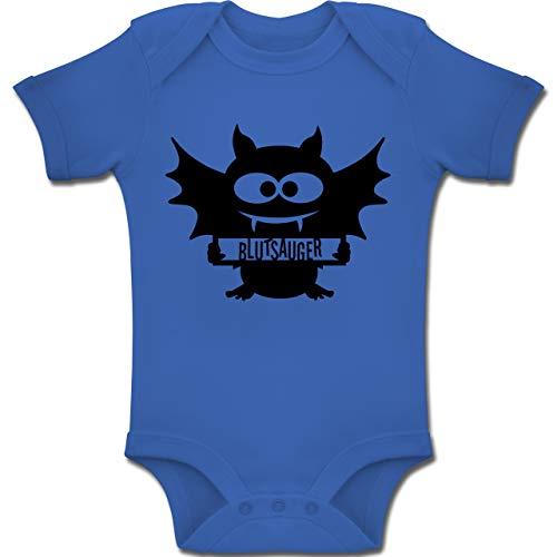 Baby - Fledermaus - 1-3 Monate - Royalblau - BZ10 - Baby Body Kurzarm Jungen Mädchen ()