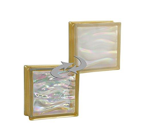 6-piezas-bm-bloques-de-vidrio-agua-perla-oro-satinado-por-un-lado-vidrio-mate-19x19x8-cm