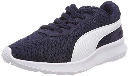 Puma Unisex-Kinder ST Activate AC PS Sneaker, Blau (Peacoat-Puma White 03), 35 EU - Schuhe Puma Jungen