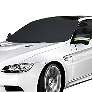Car Windscreen Frost Cover, AUPERTO Windscreen Cover Magnetic Car Windshield Protect from Sun, Ice, Frost & Snow All Weather Shield Screen Cover 148*80cm / 58*32in