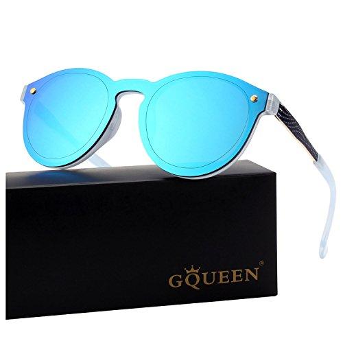 GQUEEN Futuristische Rahmenlose Verspiegelte Gläser Sonnenbrille MEO5