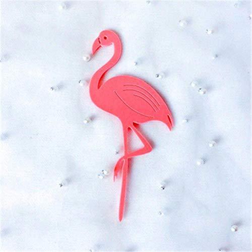 HPPL alles Gute zum Geburtstag Kuchen Dekoration kreative Acryl Flamingo Kuchen einfügen Karte einfügen Karte Backen verkleiden Sich, Rose rot (Zum Feder-flügel Verkauf)