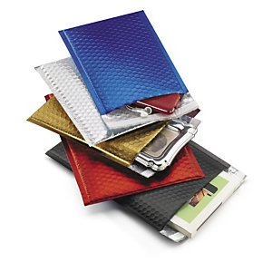 Preisvergleich Produktbild 1 Verpackungseinheit (100 Stück) farbige Luftpolster-Versandtaschen<br / >Innenmaße: Öffnung 230 mm x H 320 mm<br / >DIN A4,  36 g<br / ><b>Fb. Königsblau< / b>