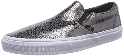 Vans Classic Slip-On, Baskets Basses Mixte Adulte Or (Cracked Metallic/Gunmetal/True White)
