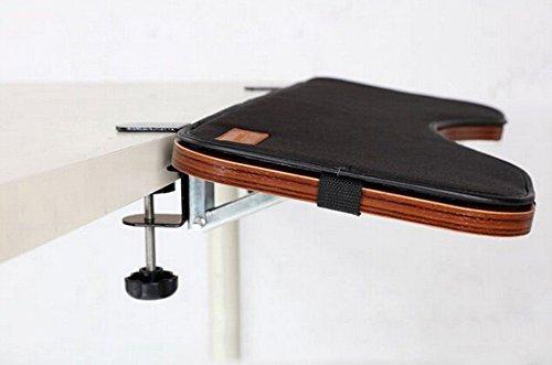 skyzonal Tastatur Mount Tablett mit Maus Pad unter Schreibtisch Ergonomische Tastatur-Handgelenkauflage Schreibtisch Extender für kleine Schreibtisch -