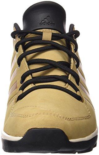 Adidas Daroga Plus Lea-Stivali da montagna, uomo Marrón / Negro / Blanco
