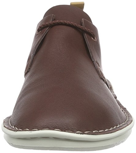 Clarks Tamho Edge, Derby homme Marron (Chestnut Leather)
