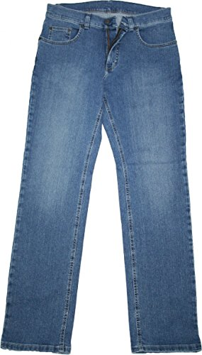 Pioneer Stretch Jeans 9733.06.1144 - Ron mittelblau/stone used, Weite/Länge:36W/32L