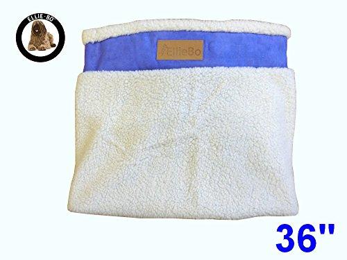 Ellie-Bo Ersatz Hundebett Cover mit Faux Wildleder und Schaffell, 87x 57cm, groß, blau