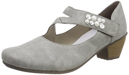 Rieker Damen 41784 Pumps, Grau (Cement), 39 EU