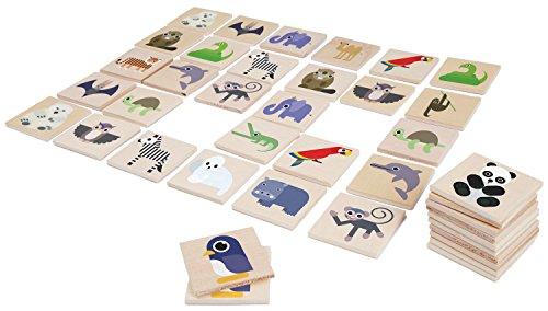 Lena 32165 - Holzspielzeug Memory Zoo, Merkspiel mit 48 Teilen aus 100{0ae382da60f1a8b36877daad4bdc86358a4f0b8af547014bddaa3c66f5b61f9b} FSC Holz, 24 Paare