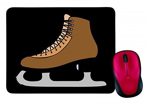 """Mauspad """"SCHLITTSCHUHE- EIS- SCHUH- BOOT- SPORT- SKATE- SCHLITTSCHUHLÄUFER- SKATEN- EISBAHN- EISKUNSTLAUF- """" in Schwarz   Mousepad - Mausmatte - Computer Pad - Mauspad mit Motiv"""