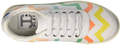 Jeffrey Campbell Zigzag, Scarpe da Cheerleader Donna Bianco (Colorful White)