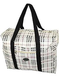 2d8de92b4c91 Storite Women s Lightweight Foldable Rexine Travel Handbag Storage Carrying  Bag (20x15.5x8.5
