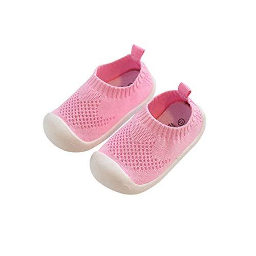 DEBAIJIA Lauflernschuhe Babyschuhe 1-4 Jahre Kinder Schuhe Kleinkind Jungen Mädchen Weiche Sohle rutschfeste Mesh Atmungsaktiv Leichte Slip-on Turnschuhe Draussen (Schuhe Jungen 3 Größe Baby)