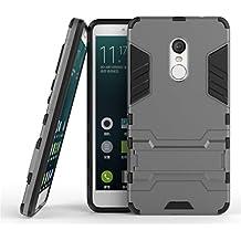 Redmi Note 4 Armadura Funda, Lifetrut [Dual Layer Design] 2 en 1 protector de TPU suave y dura de la PC híbrido resistente protector Armadura Defender Funda con una función de pata de cabra Para Xiaomi Redmi Note 4 [Gray]