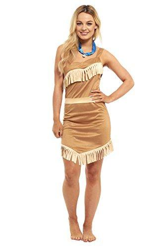 Damen Pocahontas Indian Princess (Kostüme Indian Pocahontas)