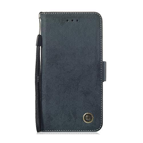 LARPOTE Samsung S7 Edge Hülle, Premium Leder Tasche Flip Wallet Case [Standfunktion] [Kartenfächern] PU-Leder Schutzhülle Brieftasche Handyhülle-Schwarz.