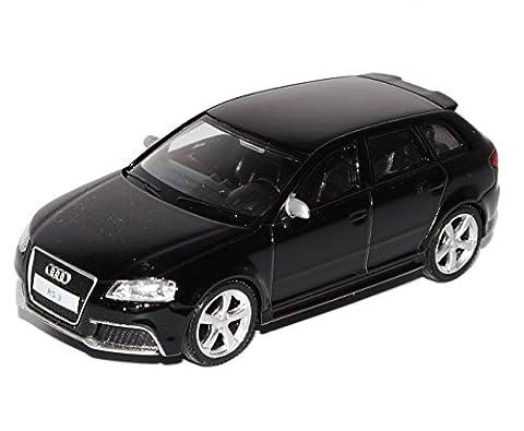 Audi A3 8P Sportback RS3 Schwarz 5 Türer 2003-2013 1/43 Modellcarsonline Sonderangebot Modell Auto mit individiuellem