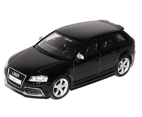 Preisvergleich Produktbild Audi A3 8P Sportback RS3 Schwarz 5 Türer 2003-2013 1/43 Modellcarsonline Sonderangebot Modell Auto mit individiuellem Wunschkennzeichen