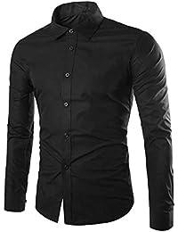02fc2f739d14 Gdtime Homme Chemise Manches Longues Slim Fit Uni sans Repassage Chemises  Casual Classique Business Taille Plus