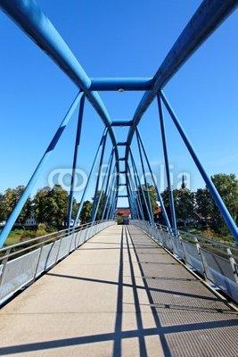 """Poster-Bild 20 x 30 cm: """"Wesertor-Brücke in Nienburg an der Weser"""", Bild auf Poster"""
