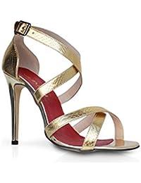 0f5f2be9e2c7 Mifani-Gold Cross Over Stiletto Heel