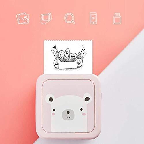 Gaorunli Thermodrucker Mini-Thermodrucker-Handy Bluetooth-Foto-tragbarer Drucker Drahtloser Drucker for Android-iOS-Handy (Color : Pink)