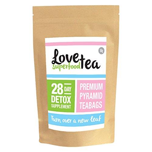 LOVE SUPER FOOD TEA | THÉ PREMIUM POUR PERDRE DU POIDS, GOÛT DÉLICIEUX (28 jours | Sachets de thé)