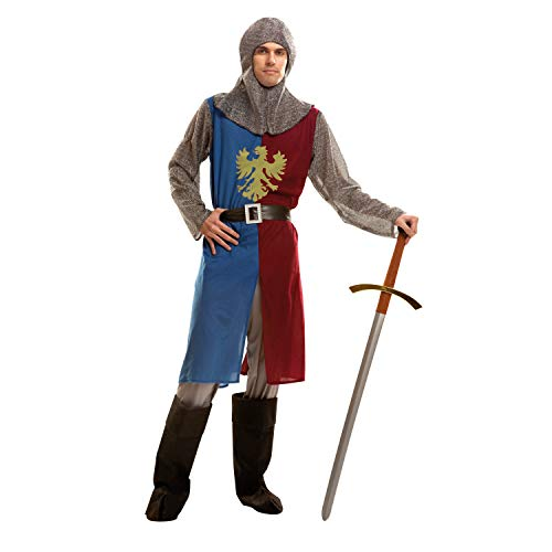 My Other Me costume da cavaliere medievale per uomo, S, colore: blu/bordeaux (Viving Costumes 202791)